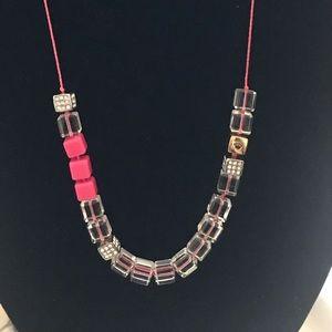 Cute neon block necklace